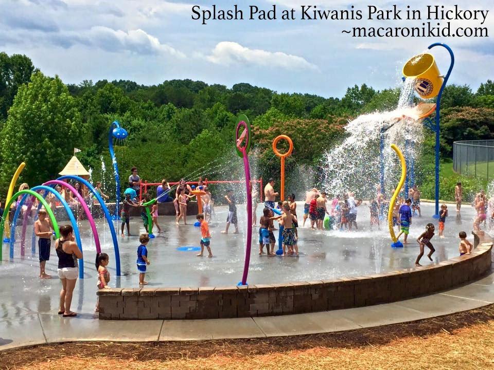 Splash Pad at Kiwanis Park in Hickory