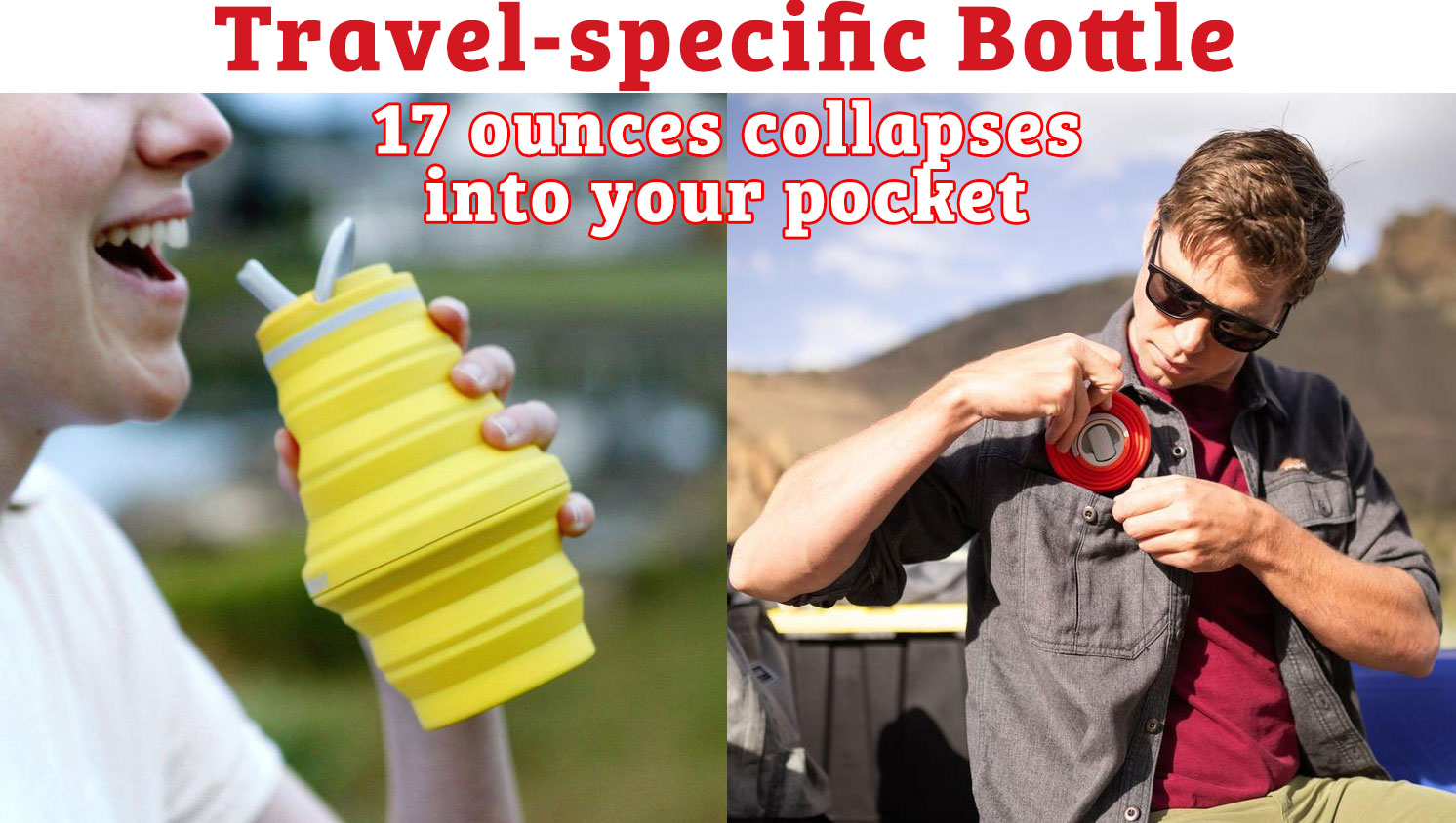hydaway Travel-specific 17 ounces collapses into your pocket Bottle